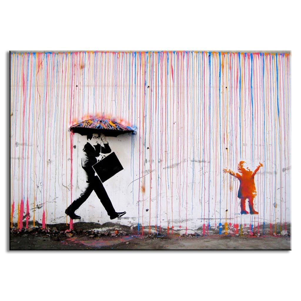 Online Buy Wholesale Banksy Wall Art From China Banksy Wall Art Intended For Banksy Wall Art Canvas (View 18 of 20)