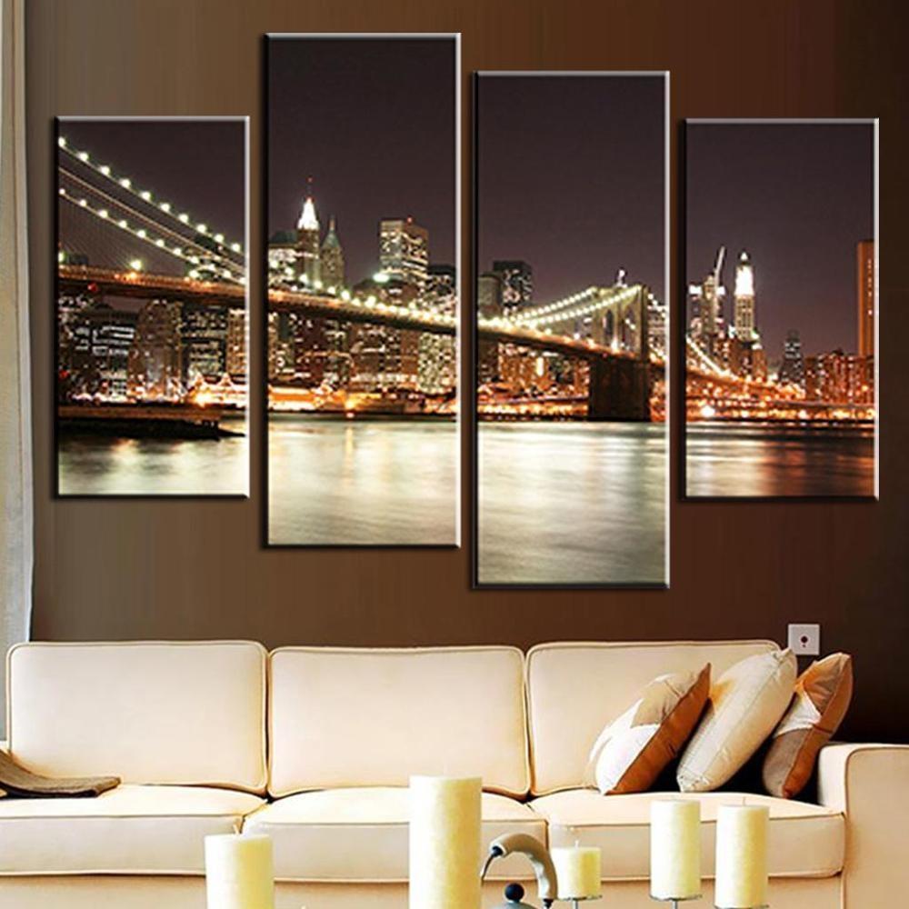 Online Buy Wholesale Brooklyn Bridge Wall Art From China Brooklyn In Brooklyn Bridge Wall Decals (View 15 of 20)