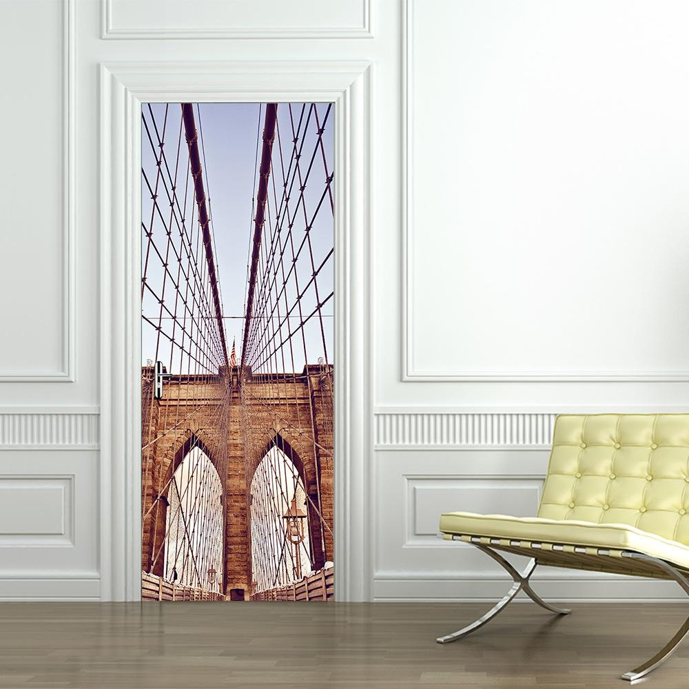 20 inspirations brooklyn bridge wall decals wall art ideas for Brooklyn bridge wall mural