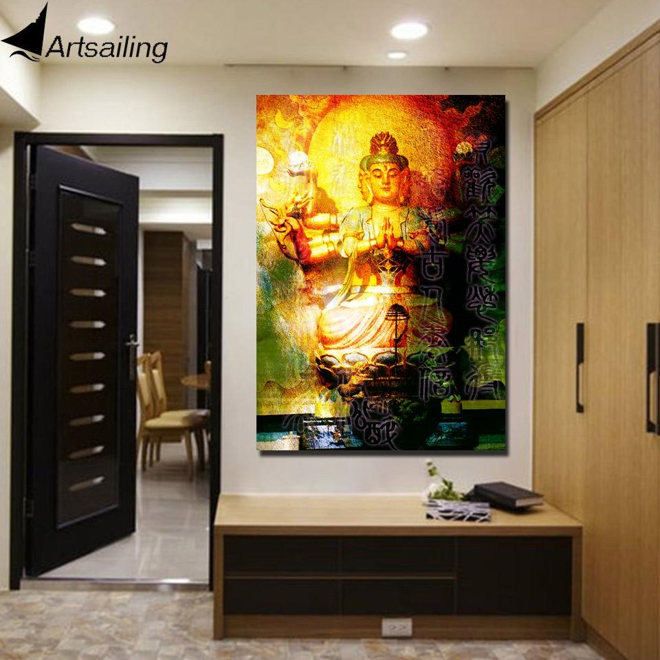 Online Buy Wholesale Buddha Wall Poster From China Buddha Wall In Large Buddha Wall Art (View 18 of 20)