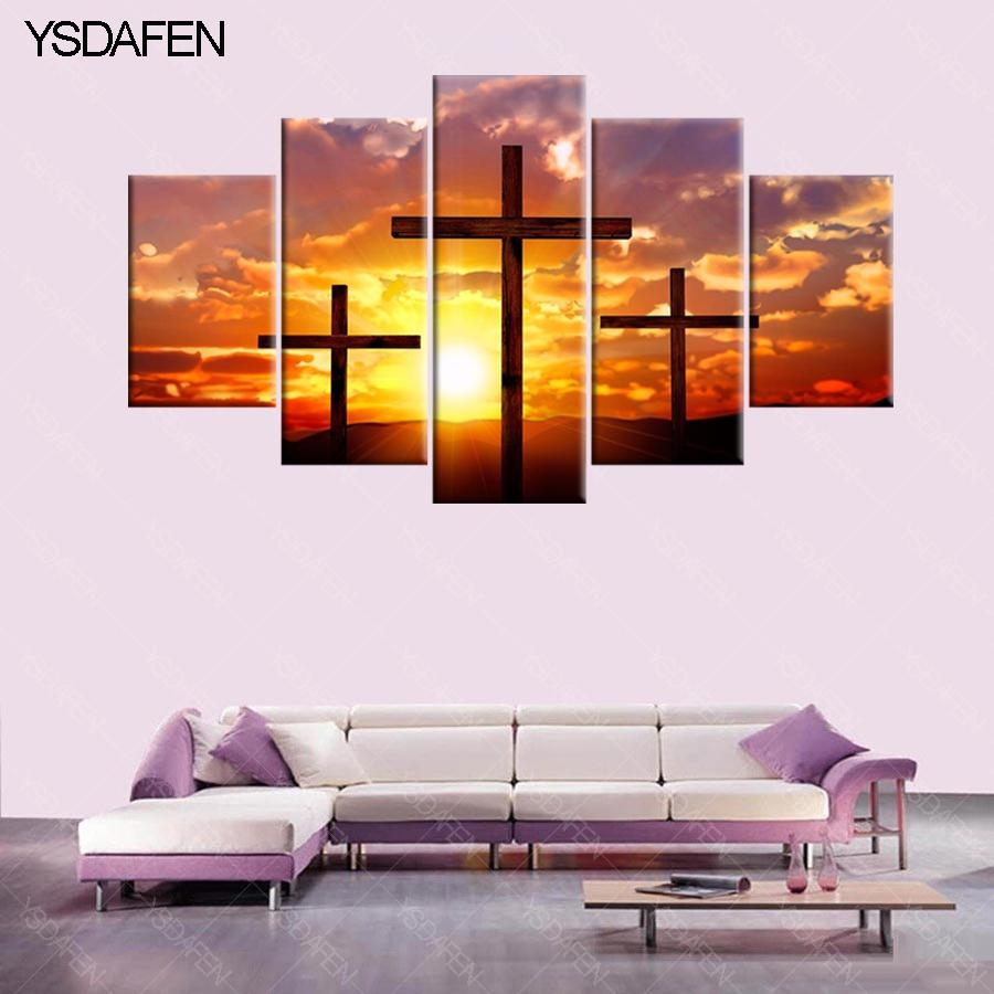 Online Buy Wholesale Christian Cross Art From China Christian Inside Christian Canvas Wall Art (View 19 of 20)