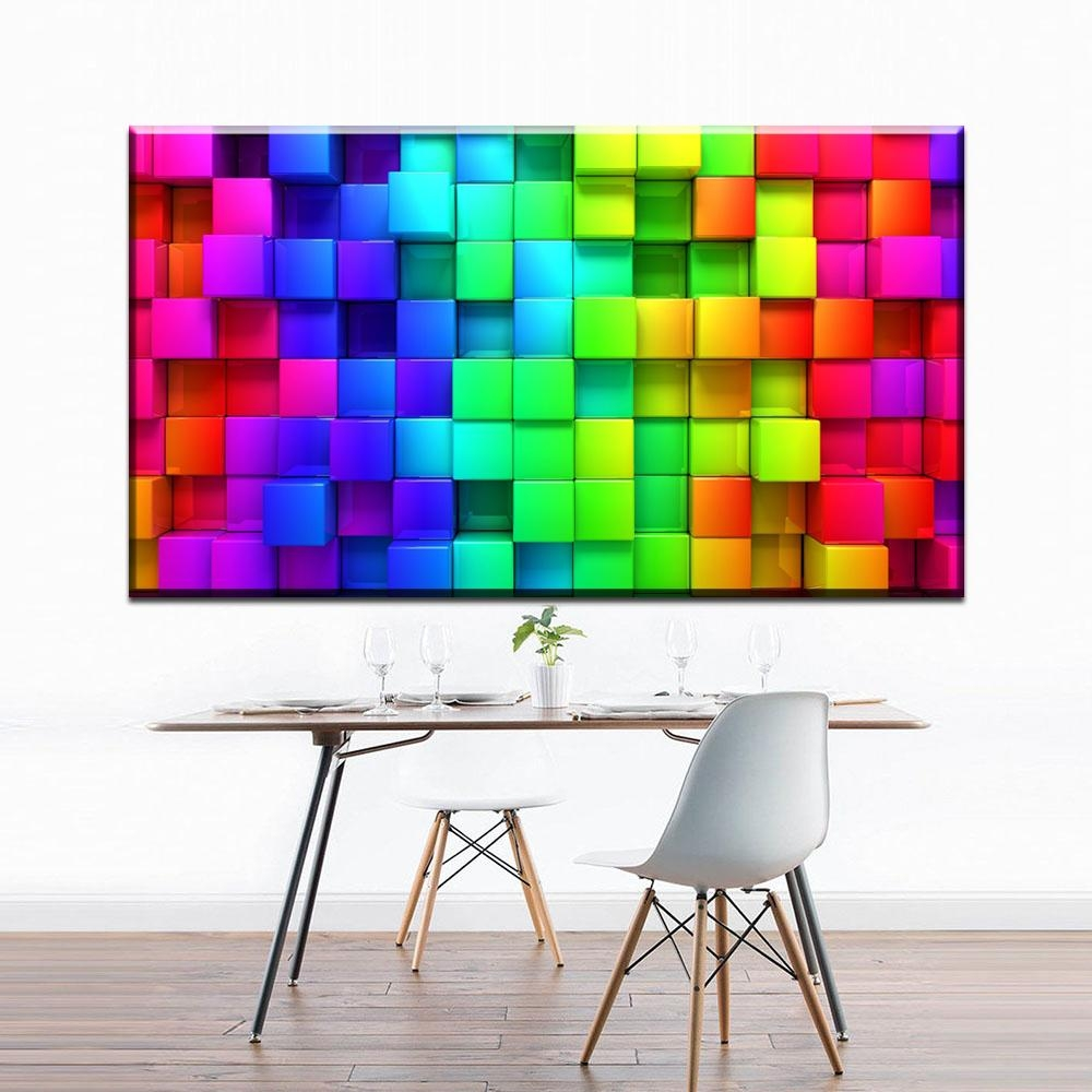 Online Buy Wholesale Color Abstract Art From China Color Abstract Inside Colorful Abstract Wall Art (View 17 of 20)