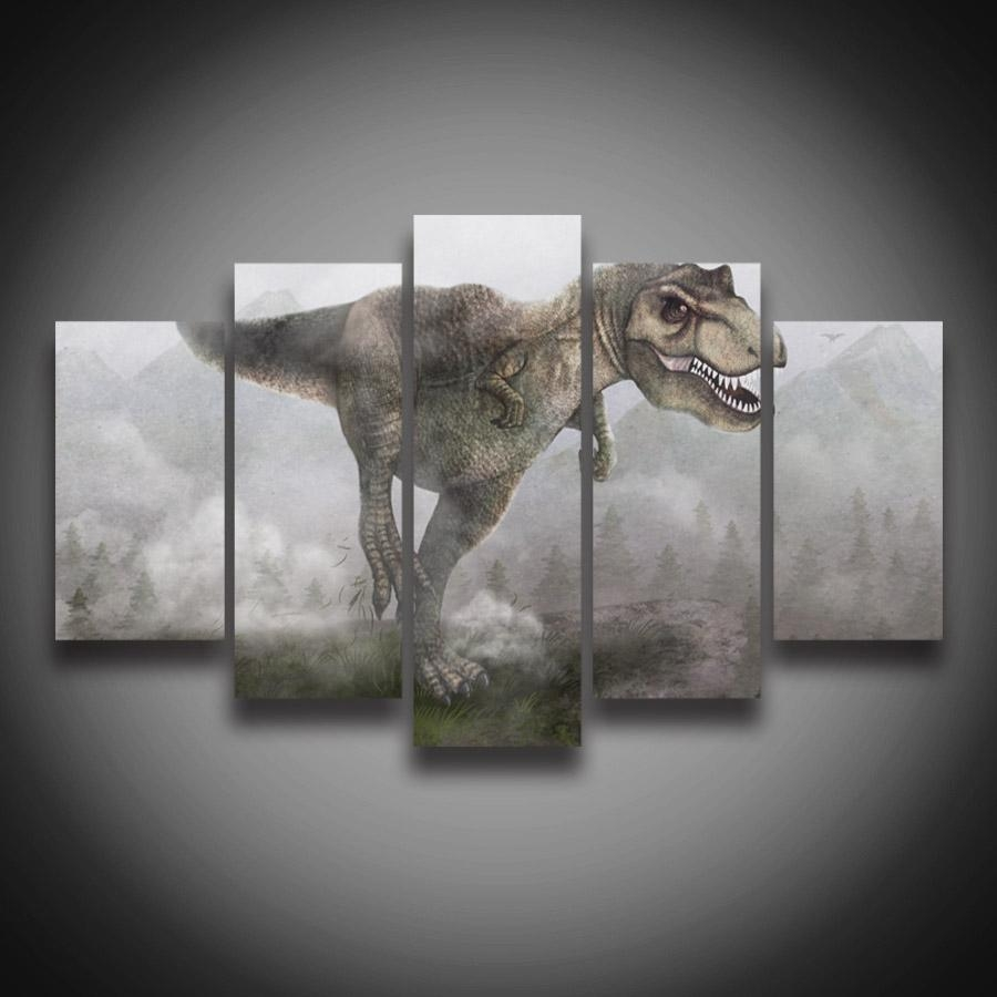 Online Buy Wholesale Dinosaur Canvas Wall Art From China Dinosaur In Dinosaur Canvas Wall Art (Image 11 of 20)