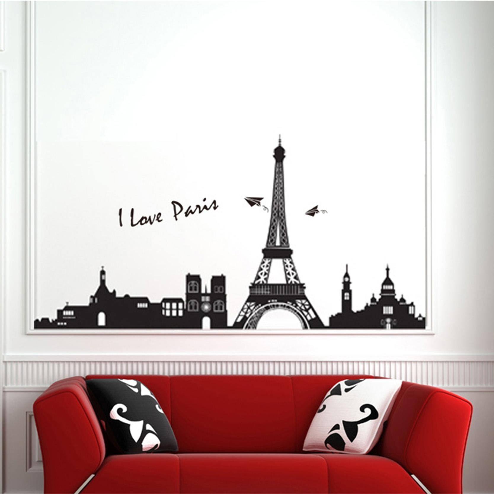 Online Buy Wholesale Eiffel Tower Wall Stickers From China Eiffel In Eiffel Tower Wall Art (Image 13 of 20)