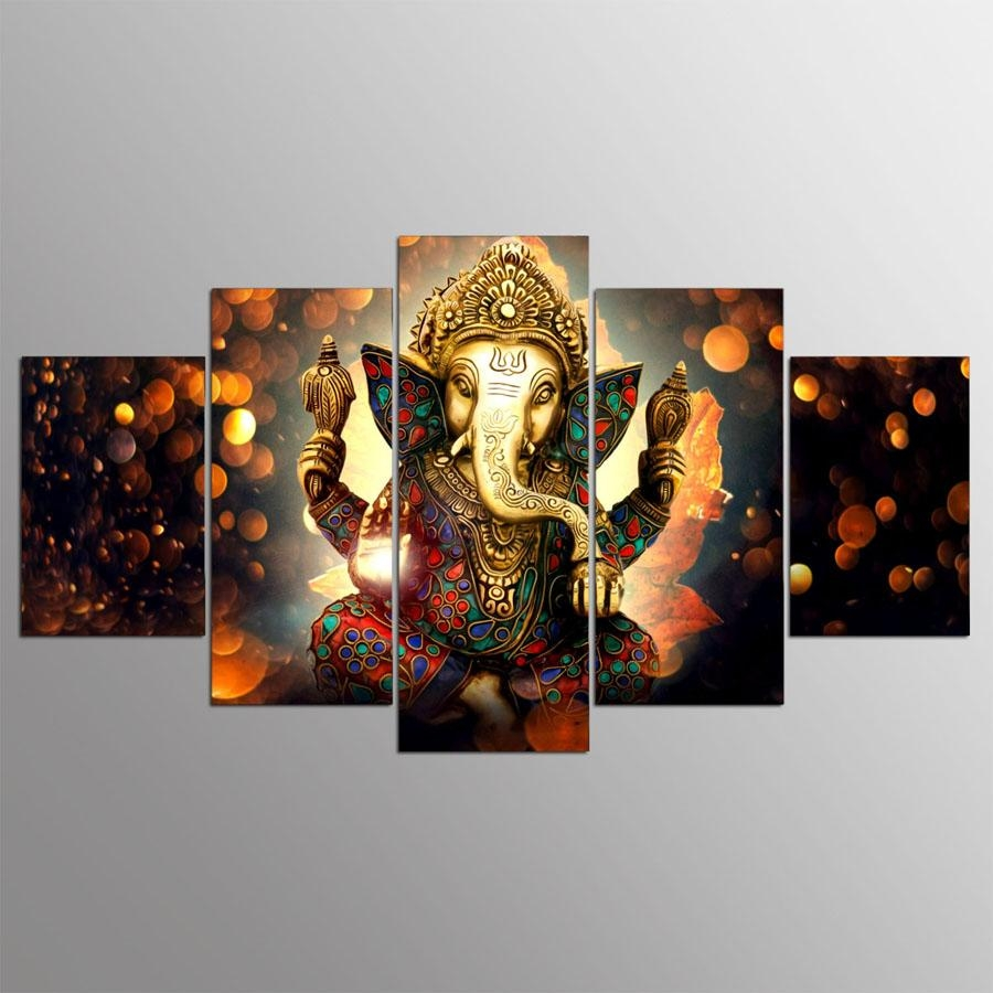 Online Buy Wholesale Ganesha Wall Art From China Ganesha Wall Art Regarding Ganesh Wall Art (View 6 of 20)