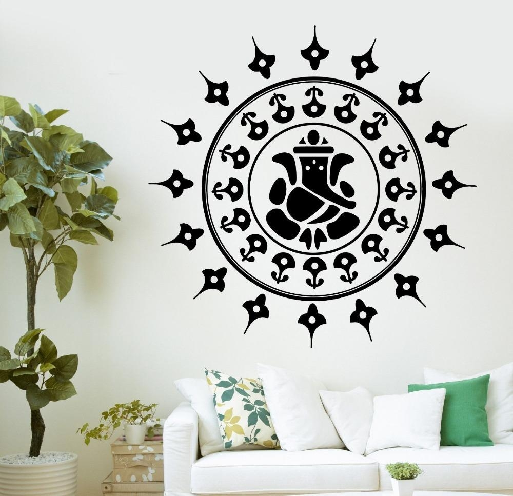 Online Buy Wholesale Ganesha Wall Decal From China Ganesha Wall Inside Ganesh Wall Art (View 2 of 20)