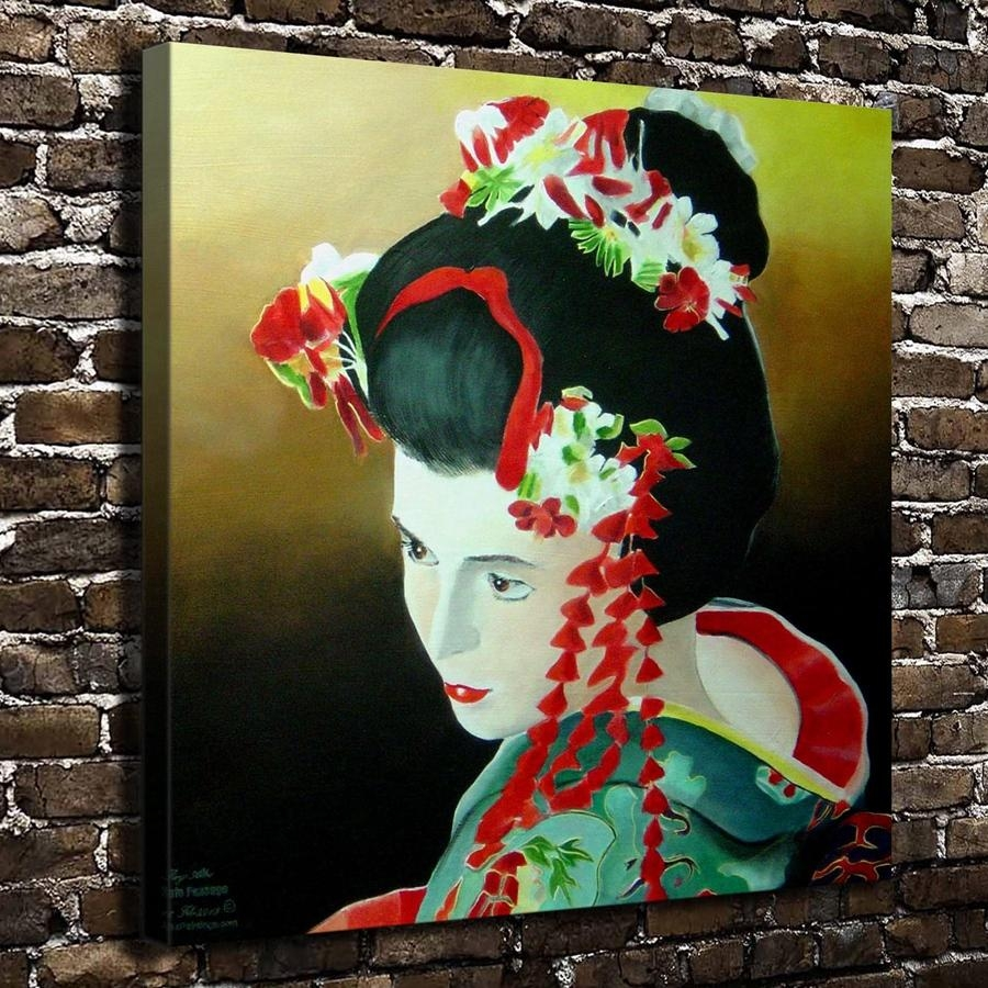Online Buy Wholesale Japanese Art Style From China Japanese Art Regarding Geisha Canvas Wall Art (View 11 of 20)