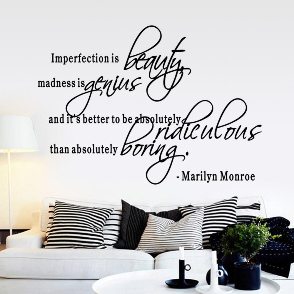 Online Buy Wholesale Marilyn Monroe Decal Quotes From China Throughout Marilyn Monroe Wall Art Quotes (View 13 of 20)