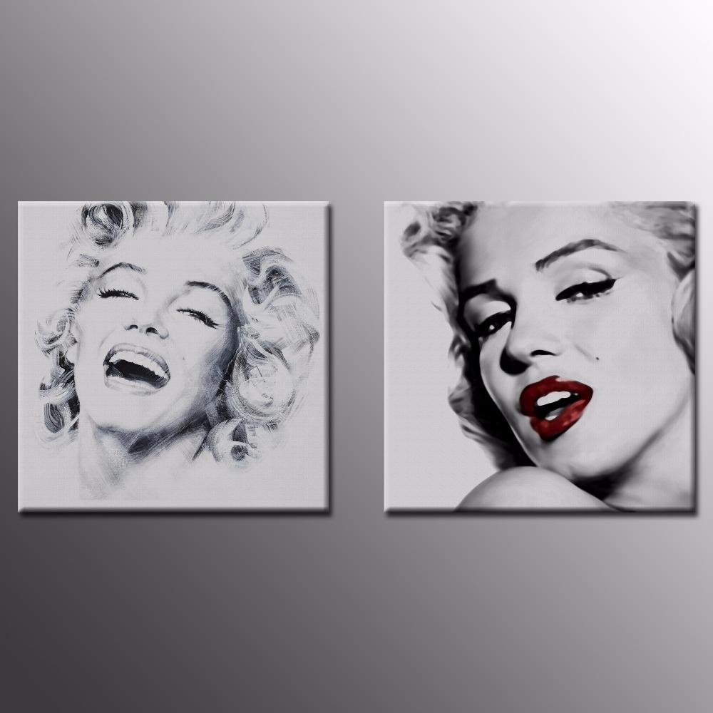 Online Buy Wholesale Marilyn Monroe Wall Art From China Marilyn Throughout Marilyn Monroe Black And White Wall Art (View 5 of 20)