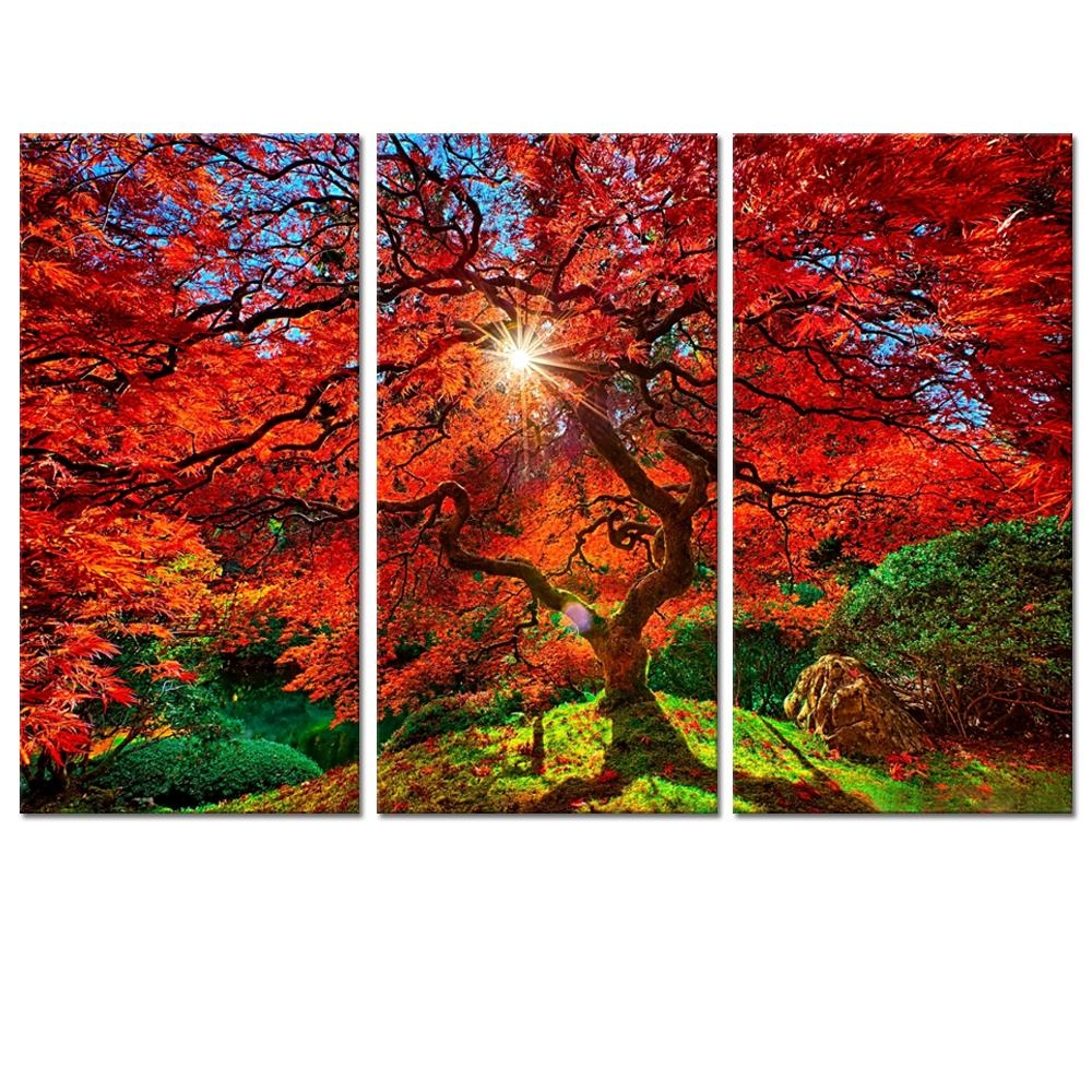 Online Buy Wholesale Multi Panel Canvas Wall Art Red From China Within Japanese Wall Art Panels (Image 11 of 20)