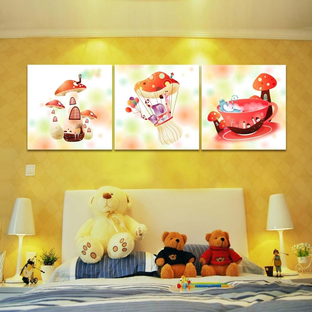 Online Buy Wholesale Mushroom Wall Art From China Mushroom Wall Regarding Mushroom Wall Art (Image 14 of 20)