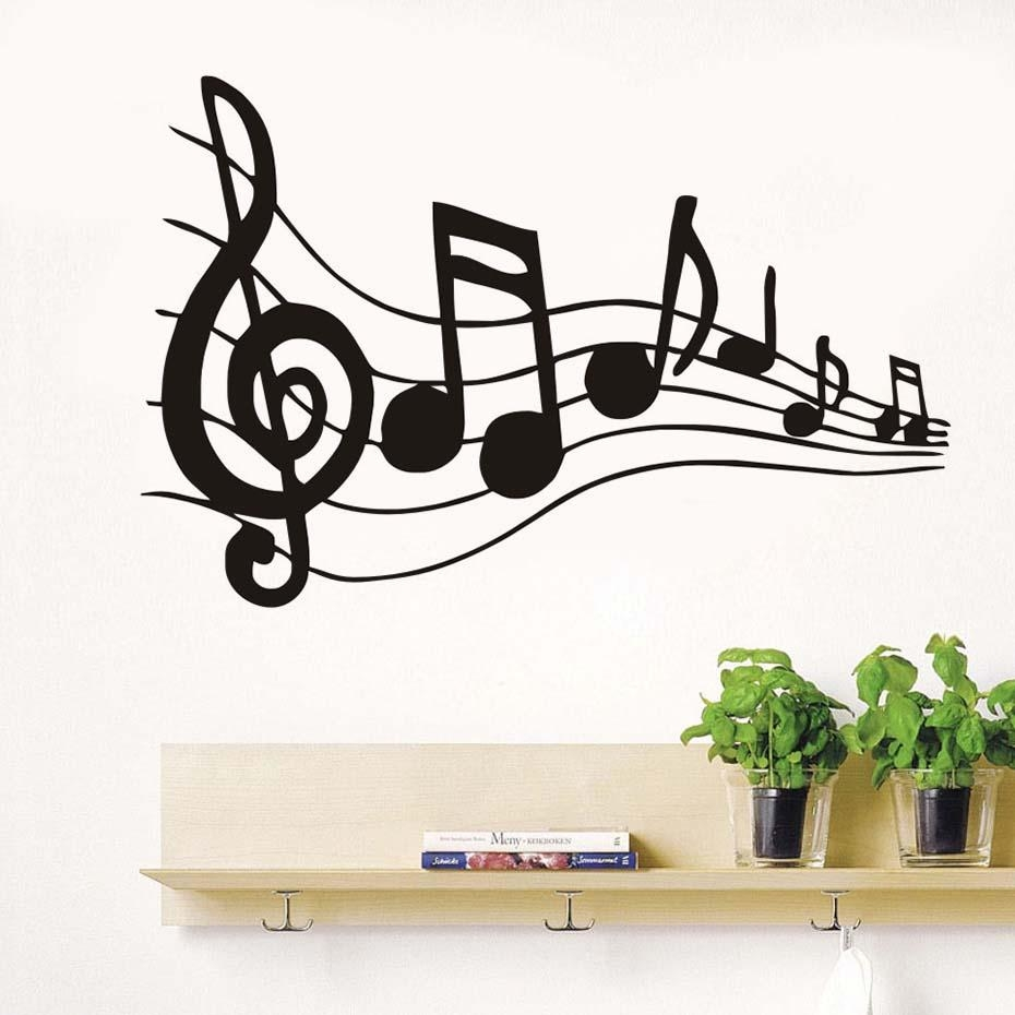 Online Buy Wholesale Music Note Wall Art From China Music Note Pertaining To Music Note Art For Walls (View 20 of 20)
