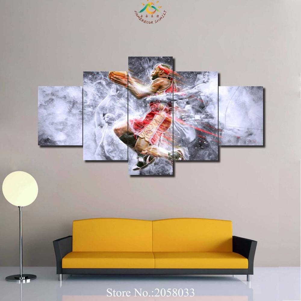 Online Buy Wholesale Nba Art From China Nba Art Wholesalers Inside Nba Wall Murals (View 2 of 20)