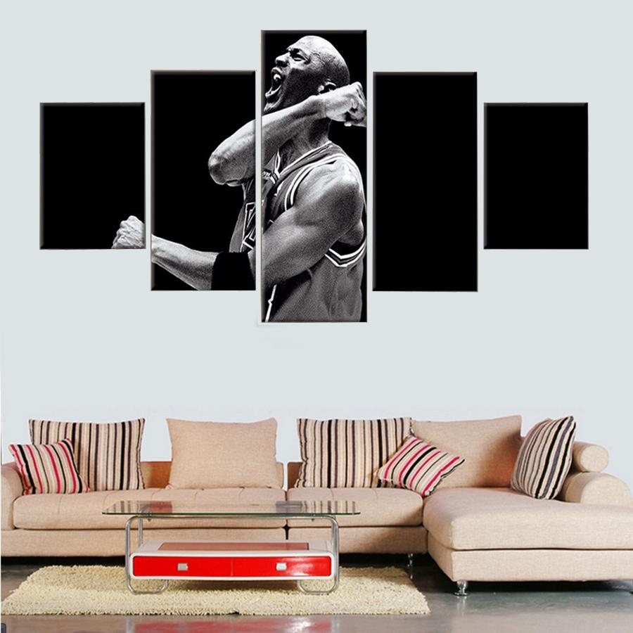 Online Buy Wholesale Nba Canvas Art From China Nba Canvas Art Throughout Nba Wall Murals (Image 10 of 20)