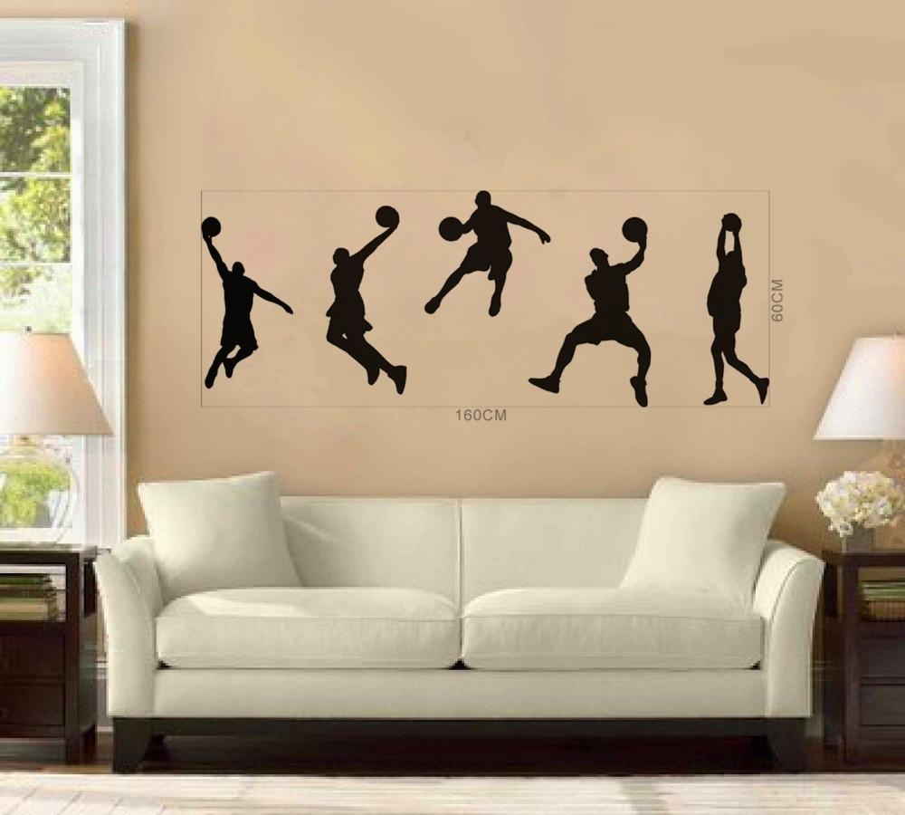 Online Buy Wholesale Nba Wall Decals From China Nba Wall Decals For Tim Burton Wall Decals (View 9 of 20)