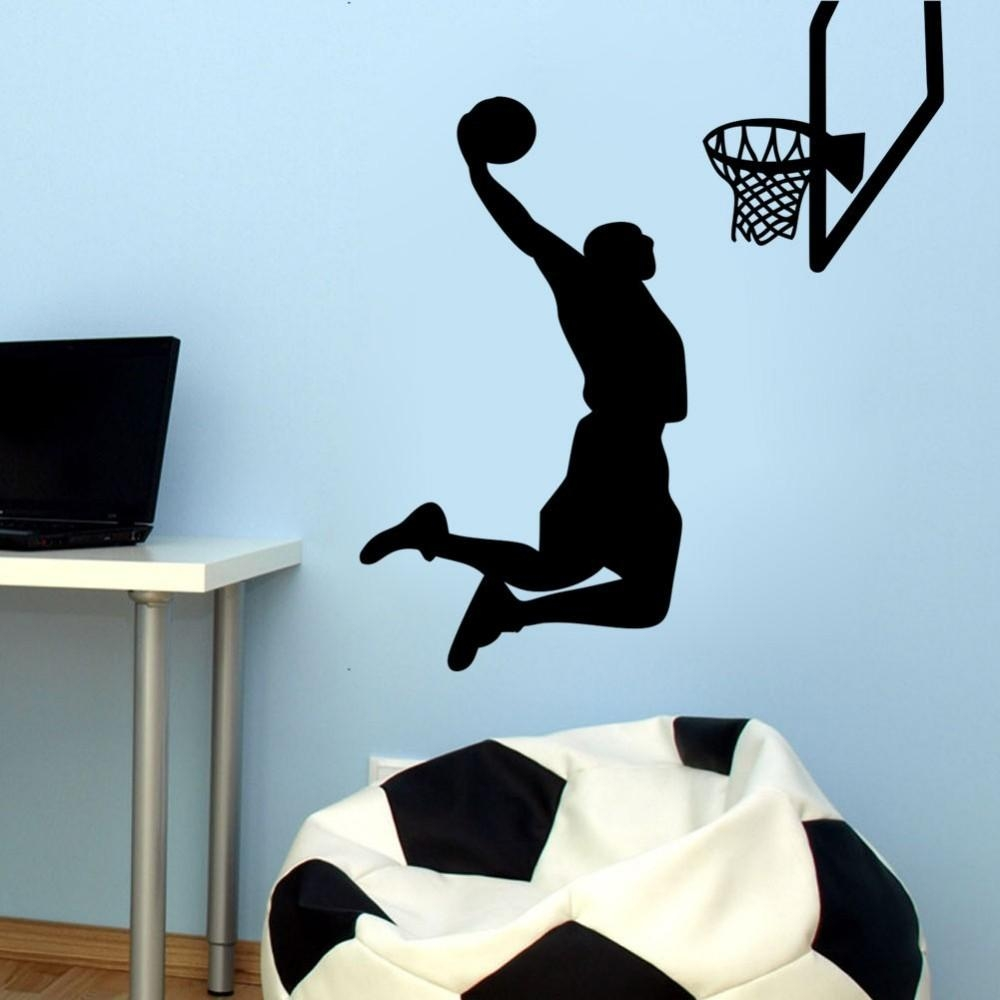 Online Buy Wholesale Nba Wall Stickers From China Nba Wall For Tim Burton Wall Decals (View 17 of 20)