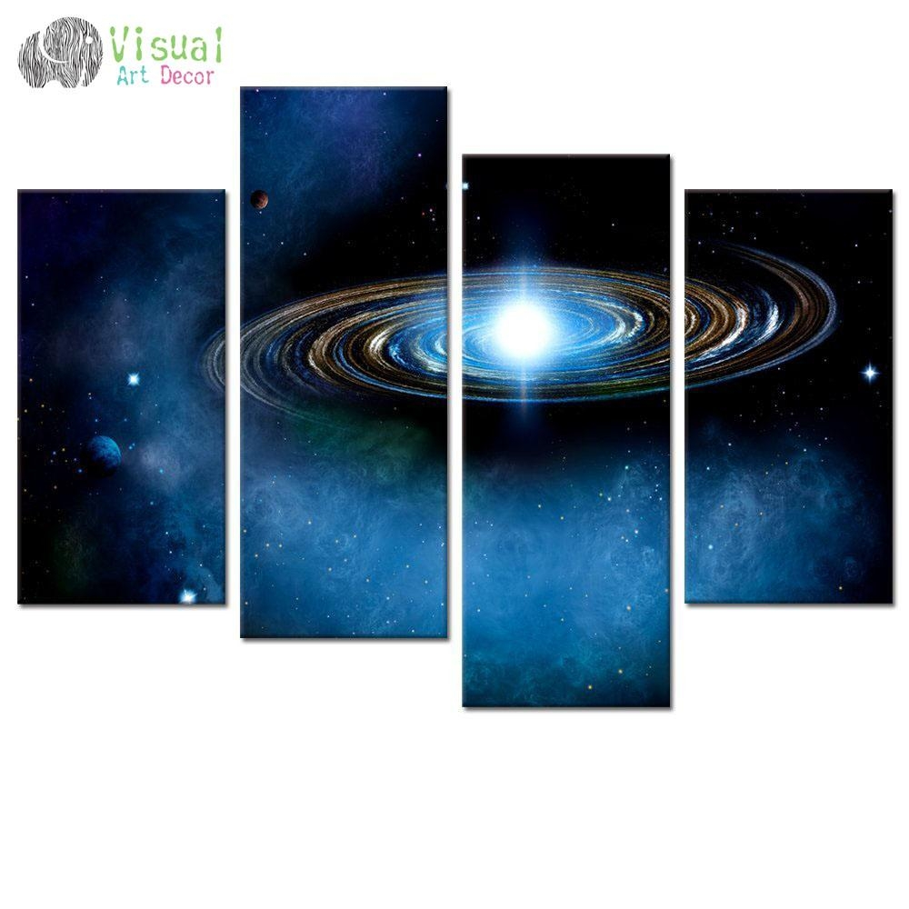 Online Buy Wholesale Outer Space Wall Art From China Outer Space With Regard To Outer Space Wall Art (View 2 of 20)