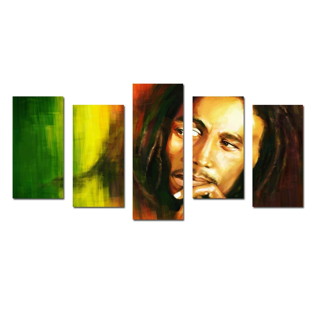 Online Buy Wholesale Paintings Bob Marley From China Paintings Bob Throughout Bob Marley Canvas Wall Art (View 14 of 20)