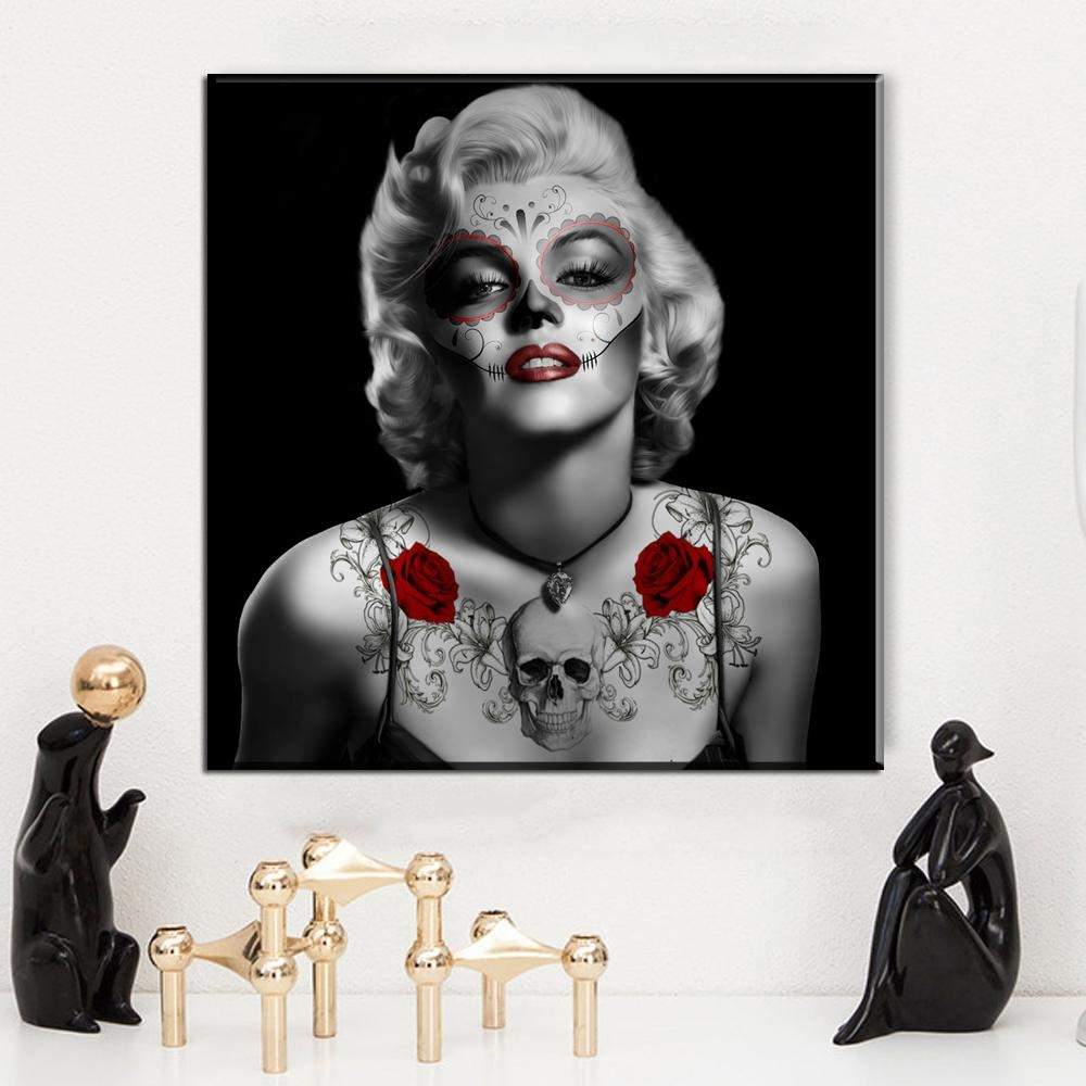 Online Buy Wholesale Red Black White Marilyn Monroe Canvas Art Inside Marilyn Monroe Black And White Wall Art (Image 17 of 20)