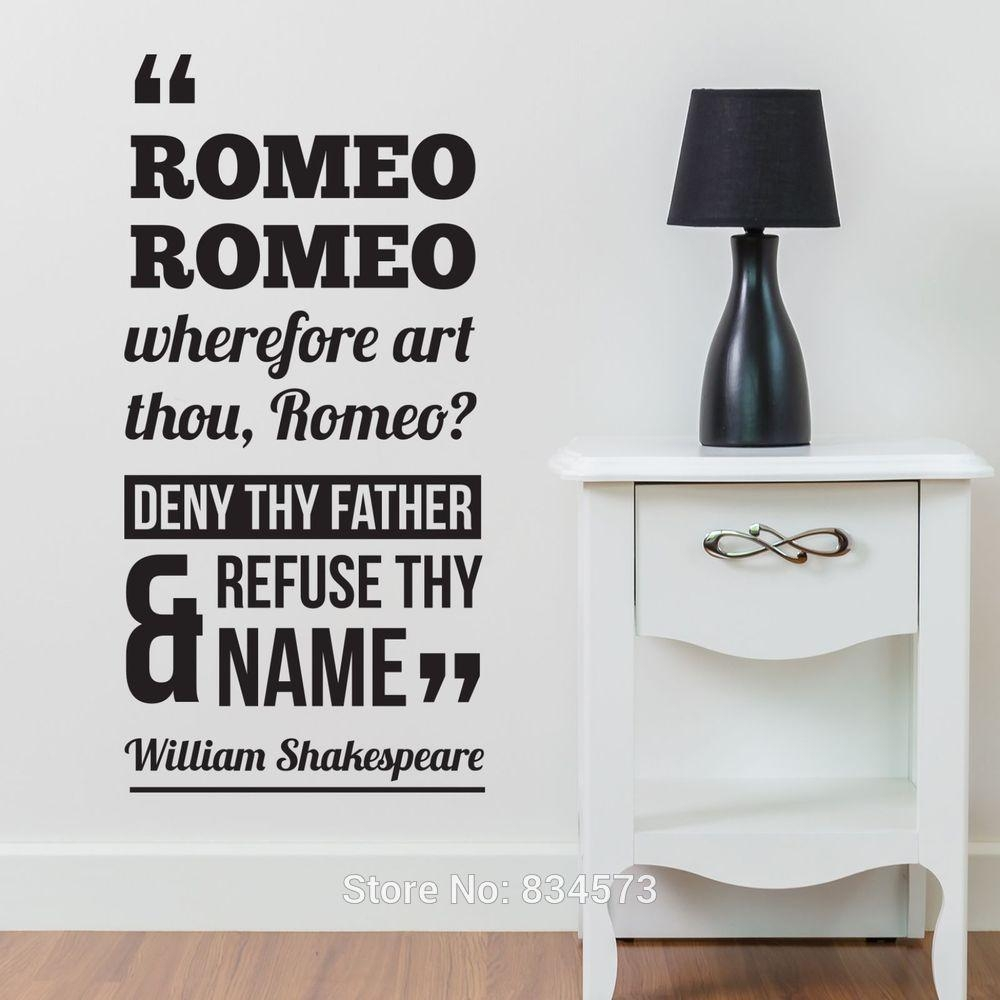 Online Buy Wholesale Shakespeare Quotes Wall Art From China Inside Shakespeare Wall Art (View 4 of 20)