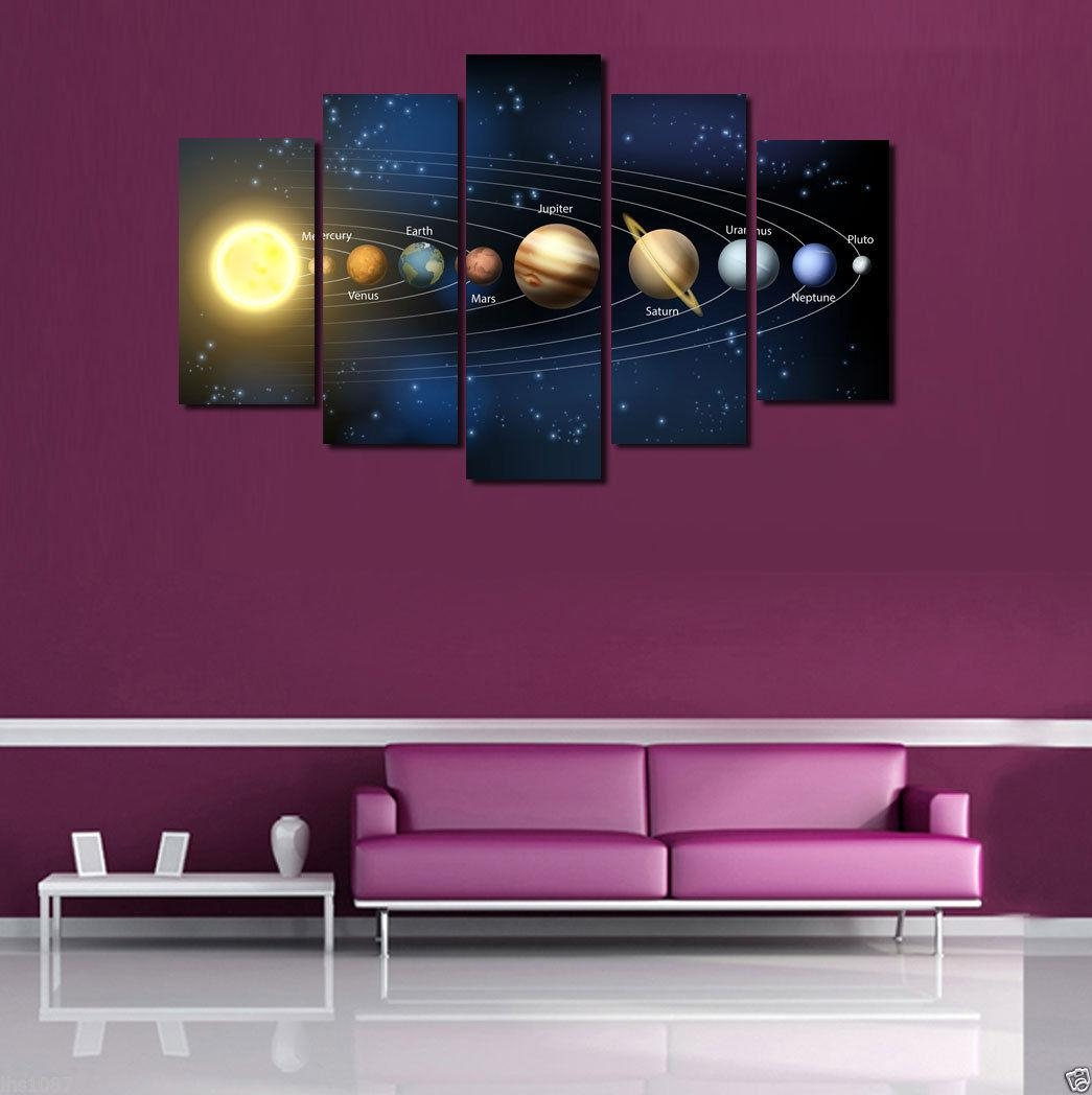 Online Buy Wholesale Solar System Art From China Solar System Art For Solar System Wall Art (Image 4 of 20)