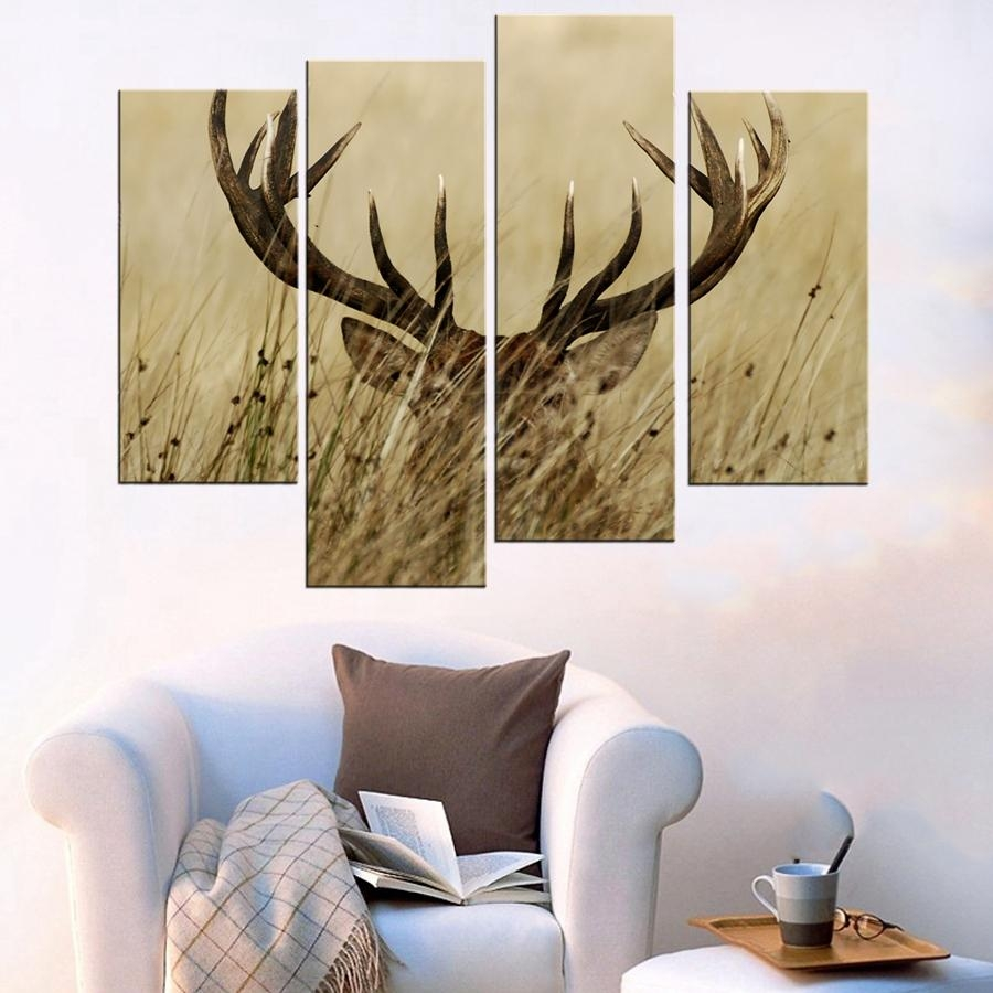 Online Buy Wholesale Stag Wall Art From China Stag Wall Art Throughout Stag Wall Art (View 4 of 20)