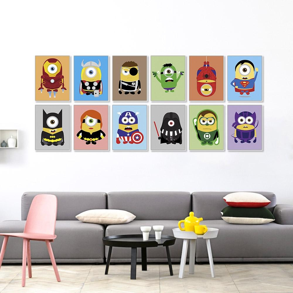 Online Buy Wholesale Superhero Room Decor From China Superhero Intended For Superhero Wall Art For Kids (Image 6 of 20)
