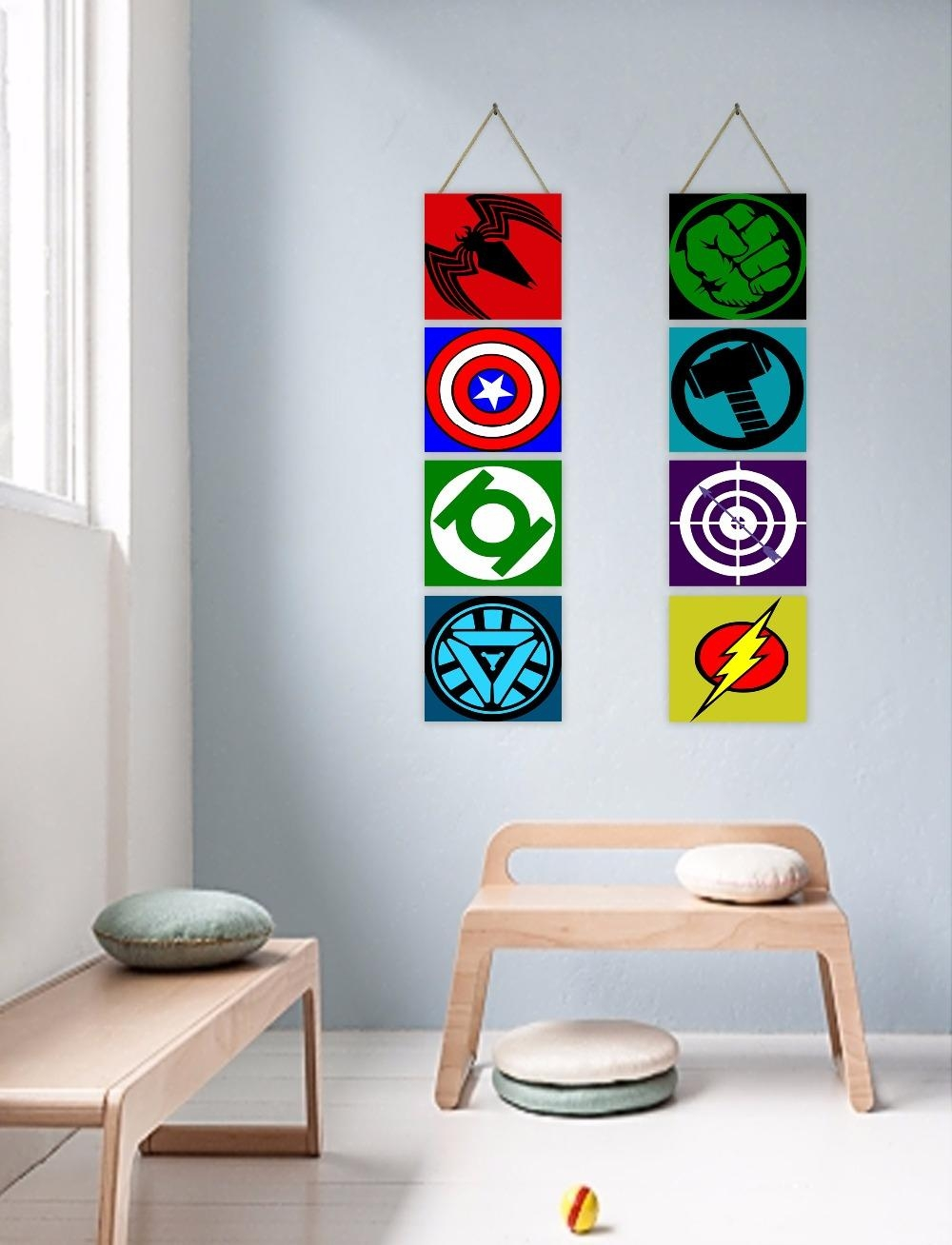 Online Buy Wholesale Superhero Wall Decor From China Superhero With Superhero Wall Art For Kids (Image 7 of 20)