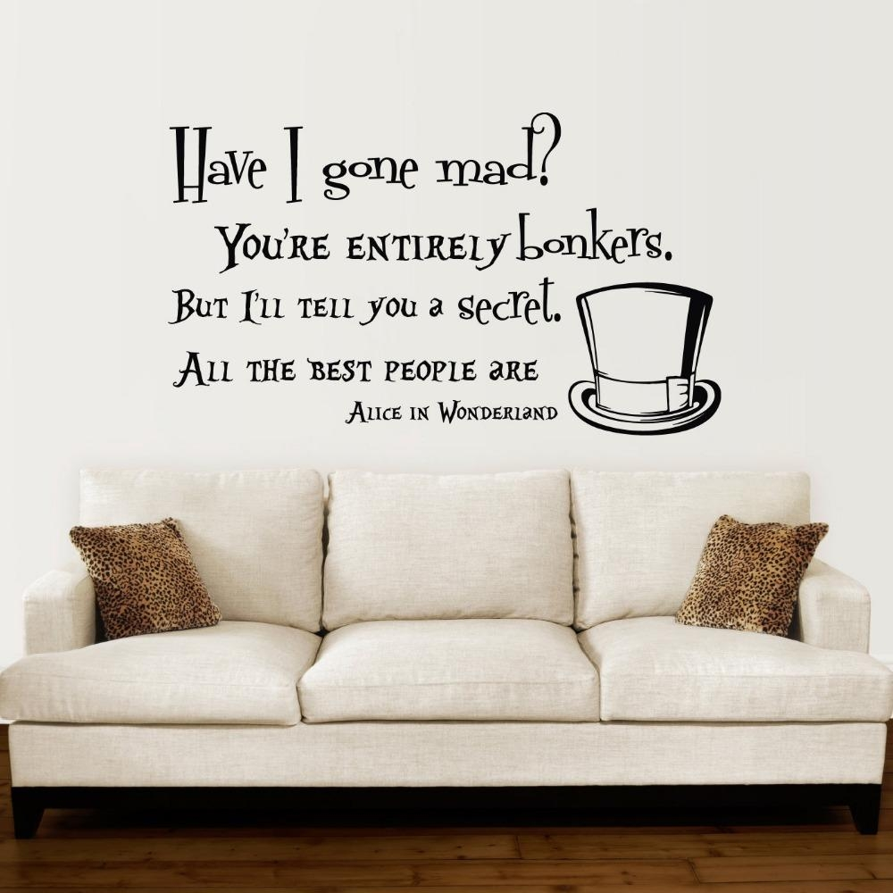 Online Buy Wholesale Wall Stickers Alice Wonderland From China Inside Tim Burton Wall Decals (View 7 of 20)
