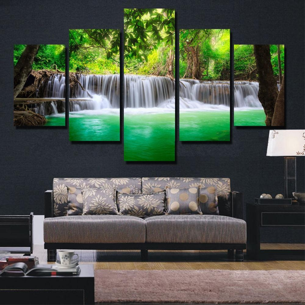 Online Buy Wholesale Waterfall Wall Art From China Waterfall Wall Throughout Waterfall Wall Art (View 6 of 20)