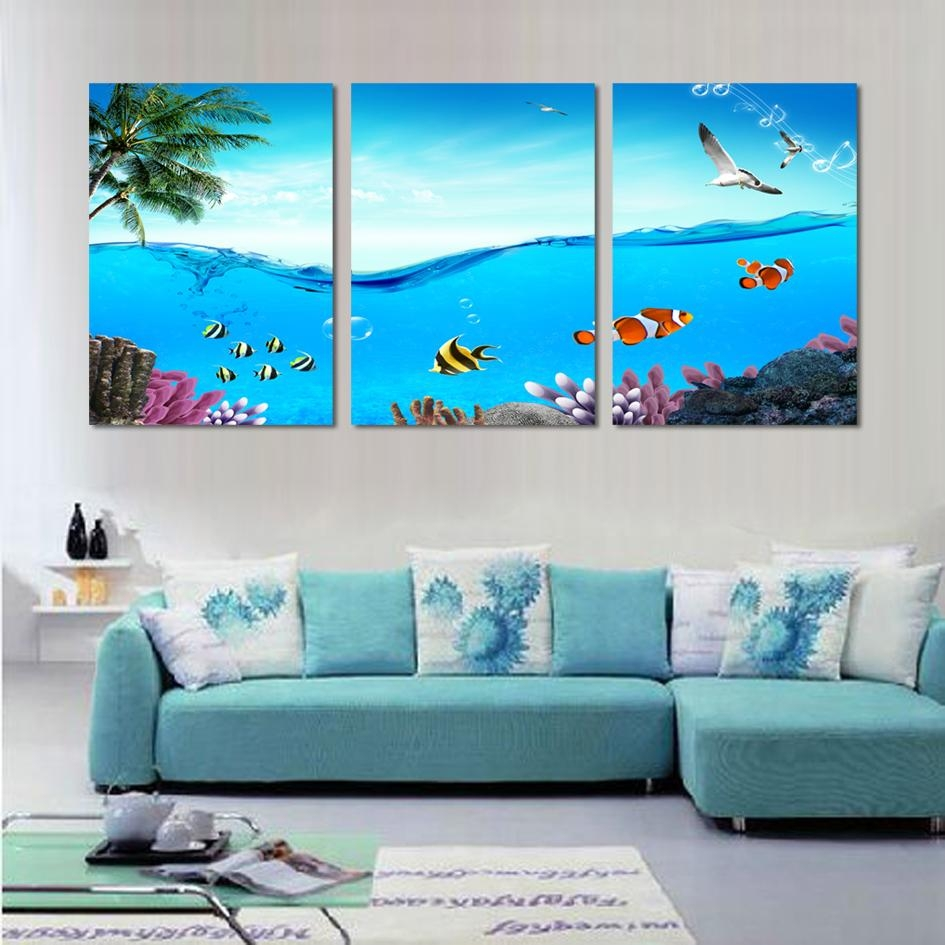 Online Get Cheap 3 Piece Canvas Wall Art Tropical  Aliexpress Within Canvas Wall Art 3 Piece Sets (Image 12 of 20)