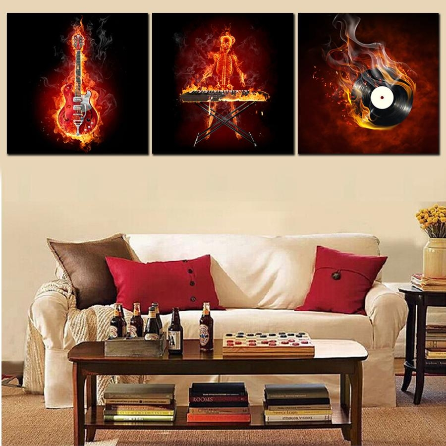 Online Get Cheap Abstract Guitar Wall Art -Aliexpress within Guitar Canvas Wall Art