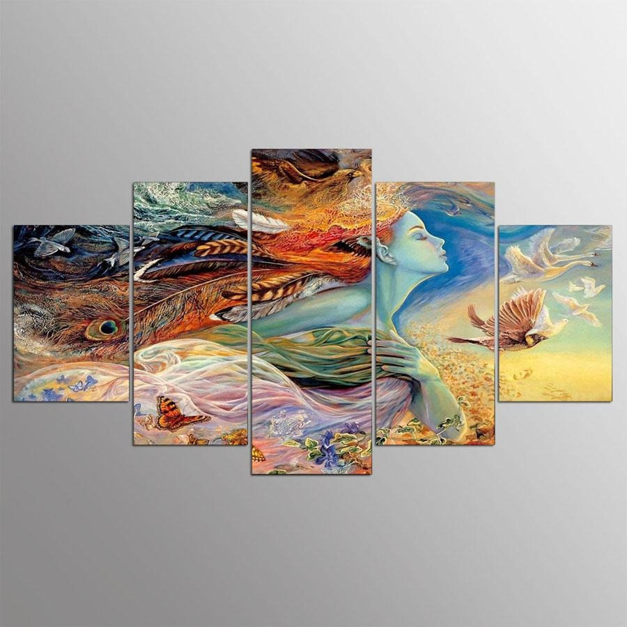Online Get Cheap Abstract Indian Art Canvas Aliexpress Intended For Cheap Abstract Wall Art (View 11 of 20)