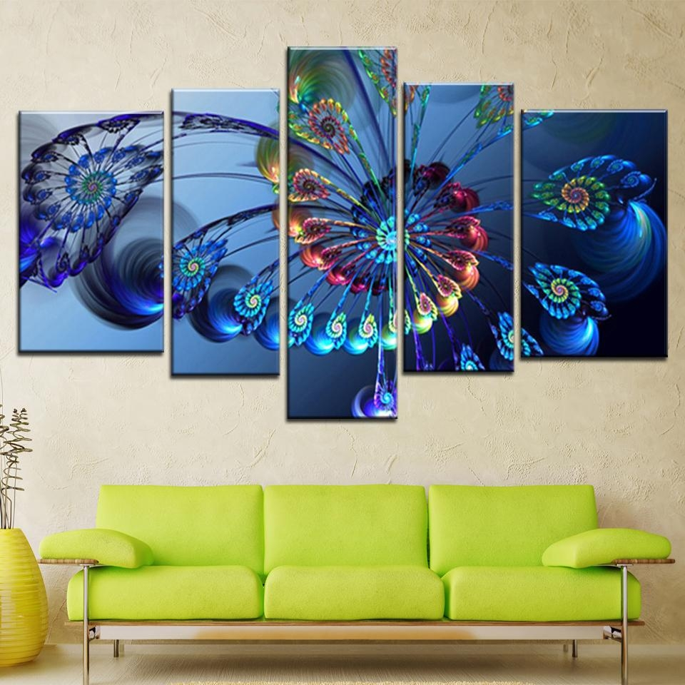 Online Get Cheap Abstract Peacock Art Aliexpress | Alibaba Group Within Cheap Abstract Wall Art (View 5 of 20)