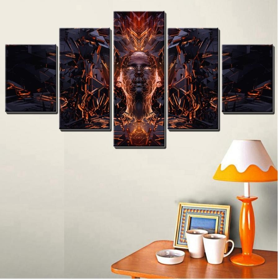 Online Get Cheap Abstract Wall Art Faces Aliexpress | Alibaba Regarding Cheap Abstract Wall Art (View 7 of 20)