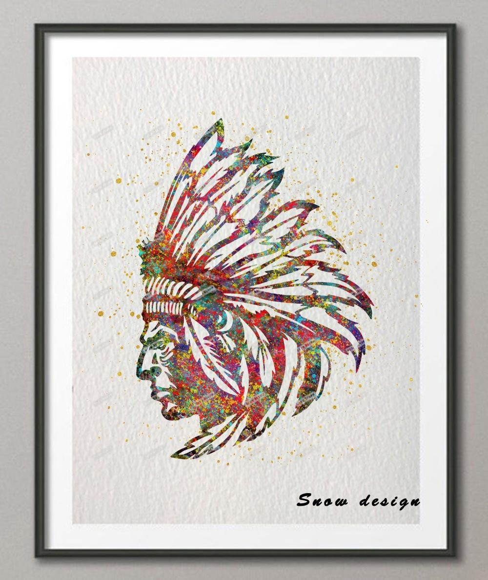 Online Get Cheap American Indian Art Prints Aliexpress Regarding Native American Wall Art (View 17 of 20)