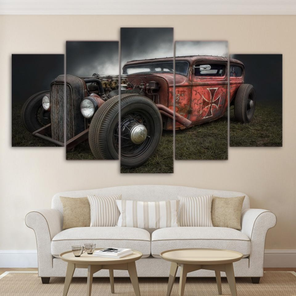 Online Get Cheap Antique Car Art  Aliexpress   Alibaba Group In Classic Car Wall Art (Image 10 of 20)