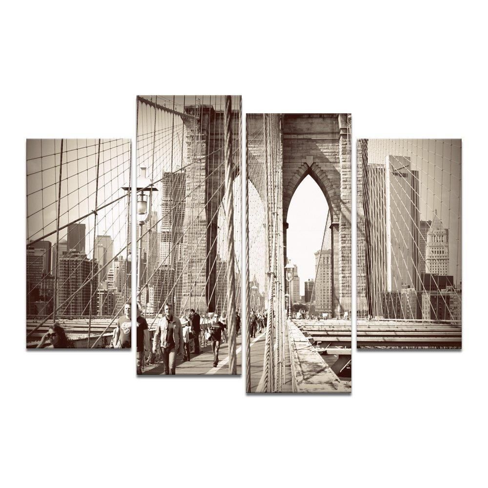 Online Get Cheap Architecture Paintings  Aliexpress | Alibaba With New York Skyline Canvas Black And White Wall Art (Image 15 of 20)