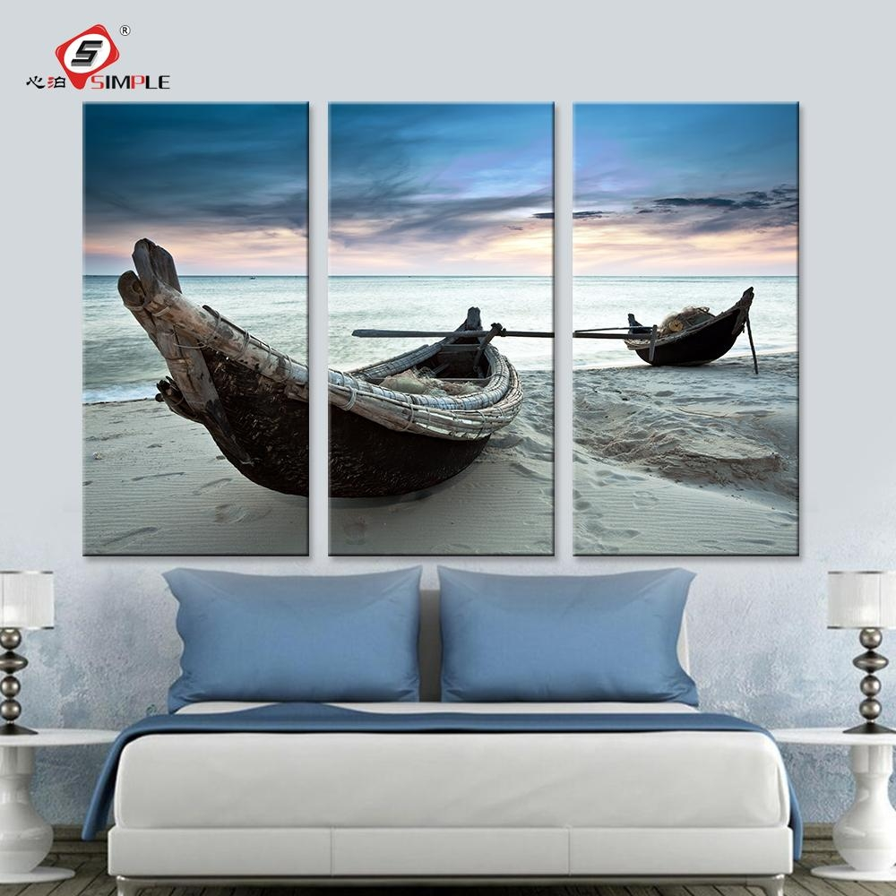 Online Get Cheap Art Wall Canvas  Aliexpress | Alibaba Group For Boat Wall Art (Image 10 of 20)