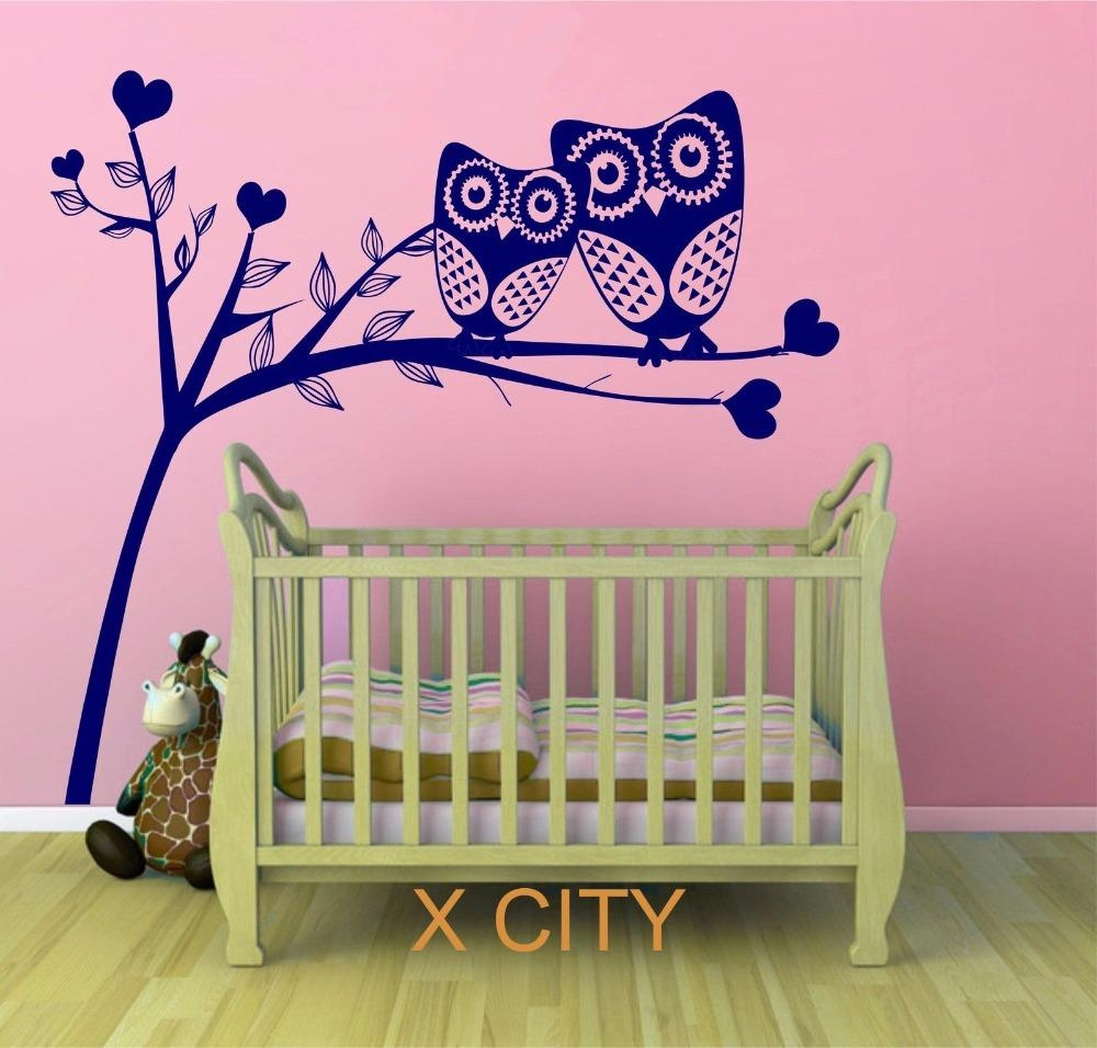 Online Get Cheap Baby Owl Wall Decals Aliexpress | Alibaba Group Pertaining To Owl Wall Art Stickers (View 6 of 20)