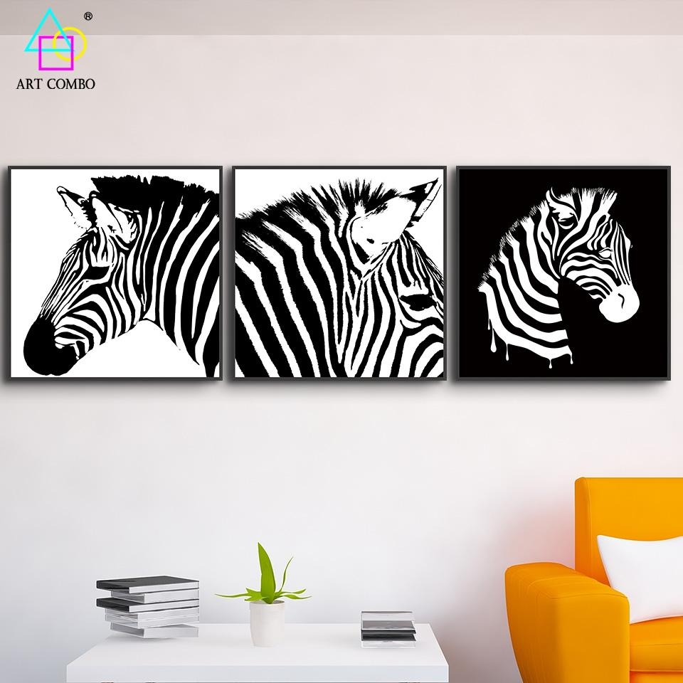 Online Get Cheap Black And White Wall Art Animals  Aliexpress With Cheap Black And White Wall Art (Image 10 of 20)
