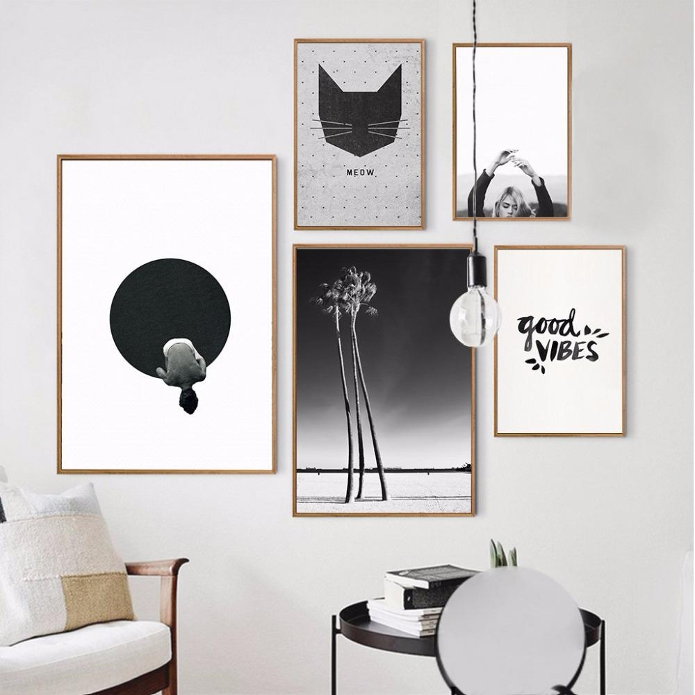 Online Get Cheap Black And White Wall Art Cartoon  Aliexpress Inside Cheap Black And White Wall Art (Image 11 of 20)