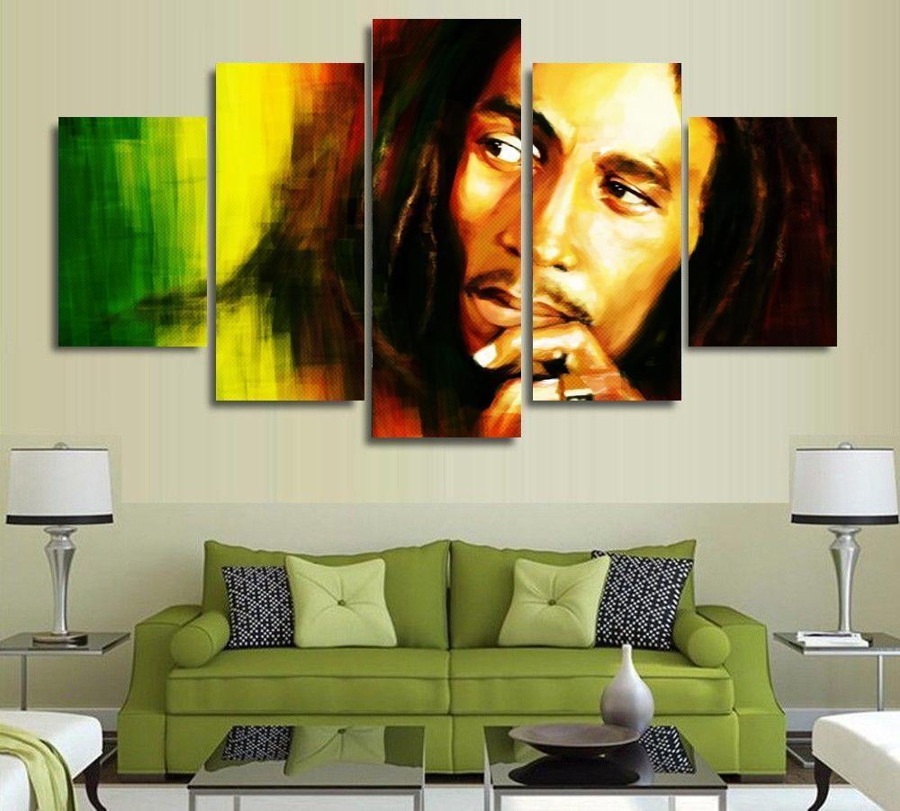 Online Get Cheap Bob Marley Wall Art  Aliexpress | Alibaba Group Within Bob Marley Wall Art (Image 17 of 20)