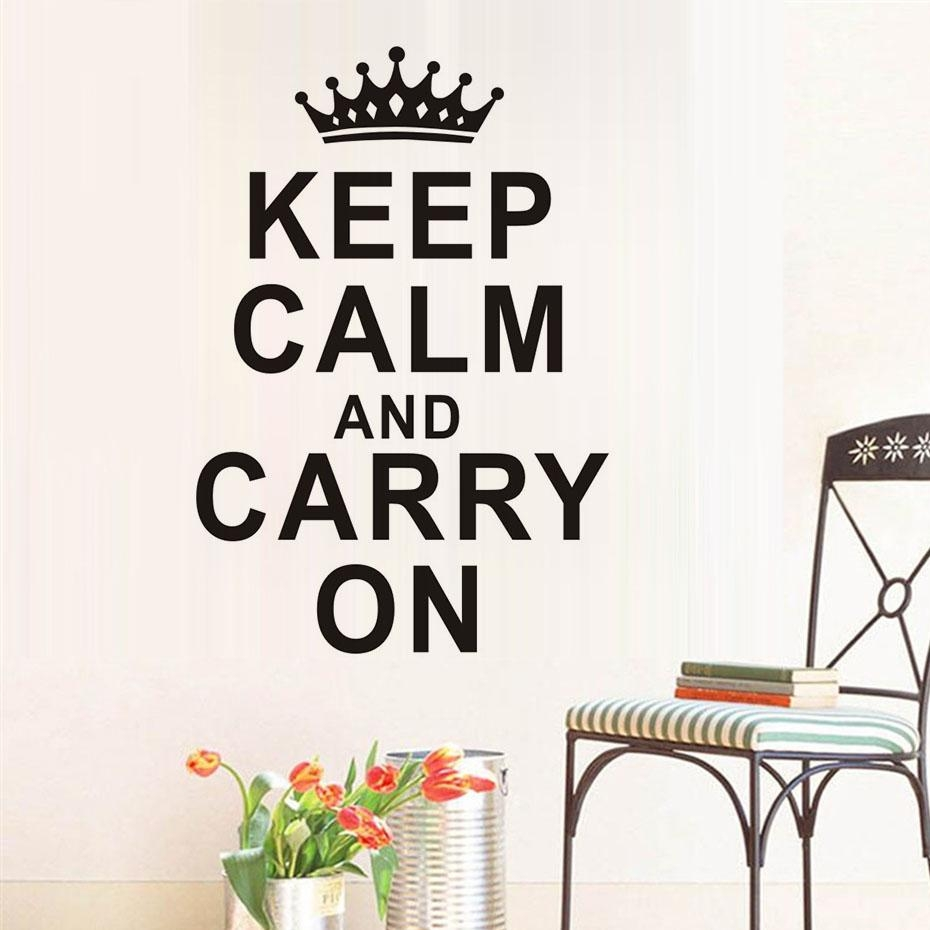 Online Get Cheap Calming Wall Art  Aliexpress | Alibaba Group For Keep Calm And Carry On Wall Art (Image 17 of 20)