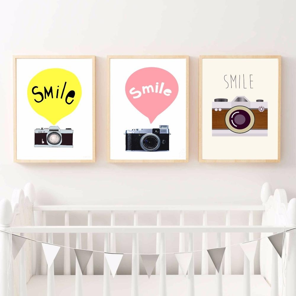 Online Get Cheap Camera Canvas Art  Aliexpress | Alibaba Group Intended For Nursery Canvas Art (Image 15 of 20)