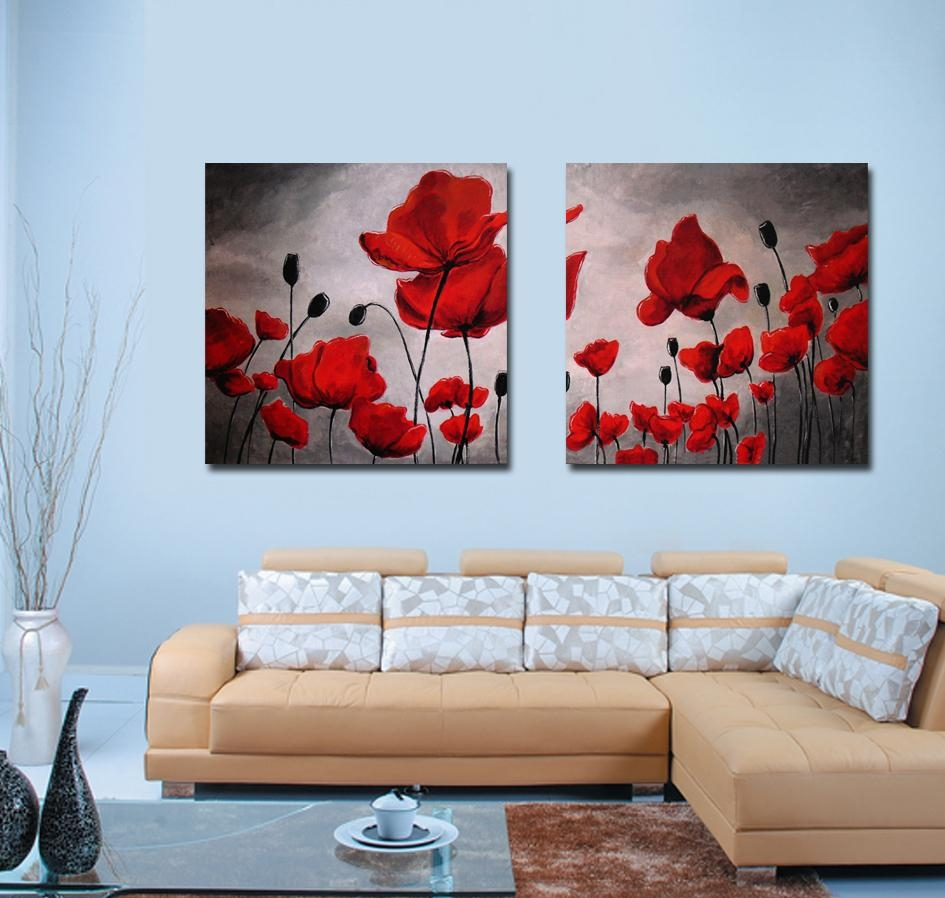 20 collection of red poppy canvas wall art wall art ideas