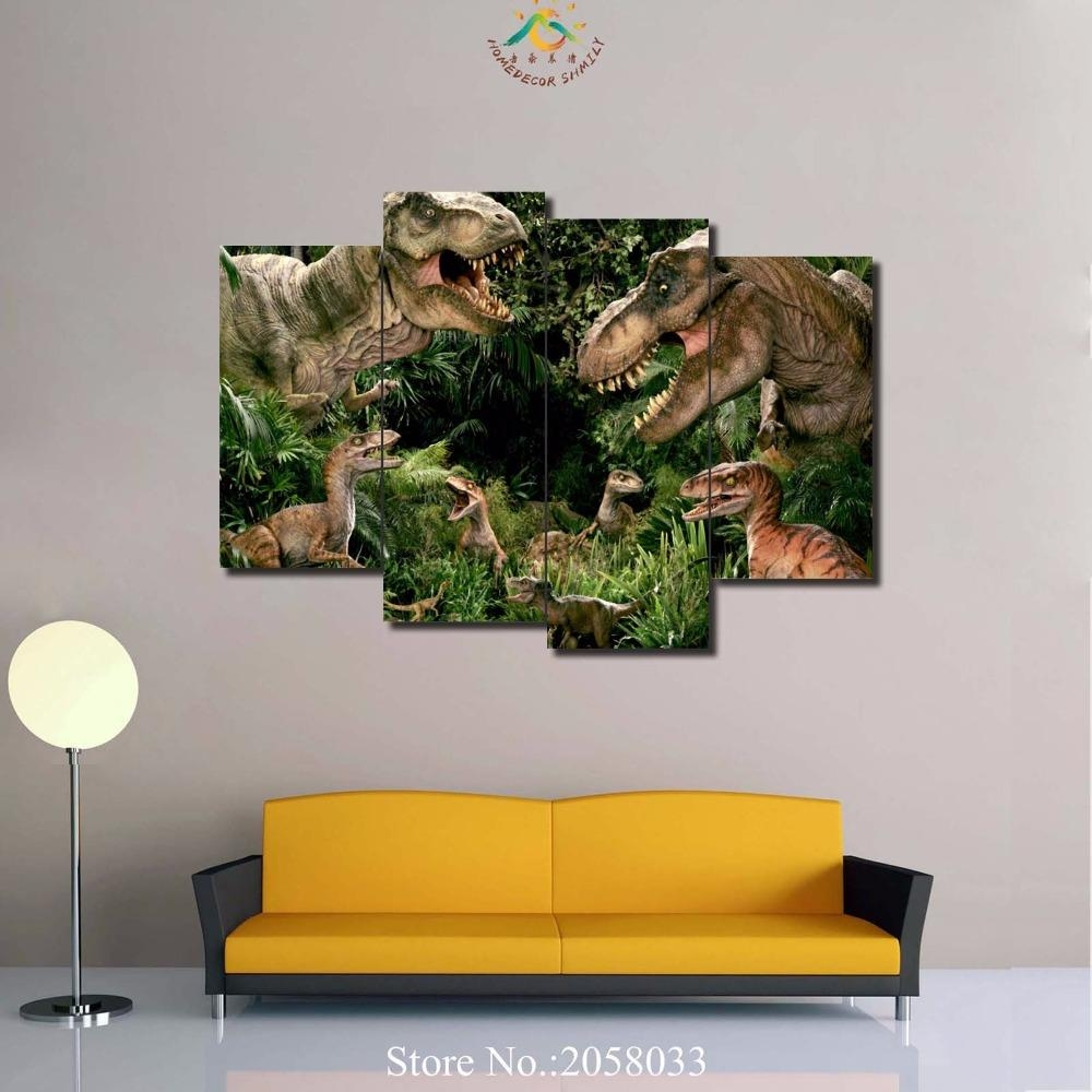 Online Get Cheap Canvas Painting Dinosaur  Aliexpress Regarding Dinosaur Canvas Wall Art (Image 13 of 20)