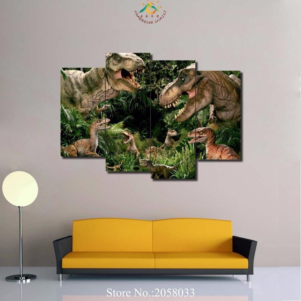 Online Get Cheap Canvas Painting Dinosaur Aliexpress Regarding Dinosaur Canvas Wall Art (View 16 of 20)