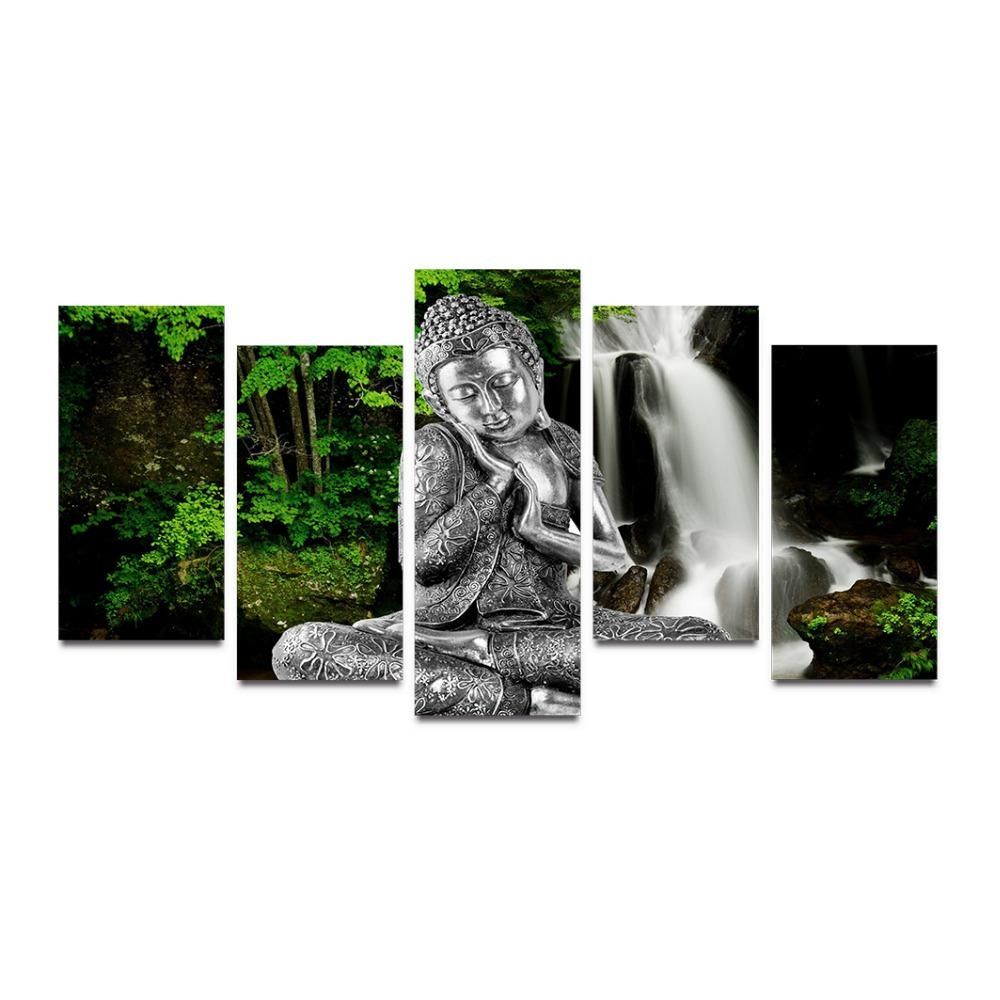 Online Get Cheap Canvas Silver  Aliexpress | Alibaba Group Within Silver Buddha Wall Art (Image 13 of 20)