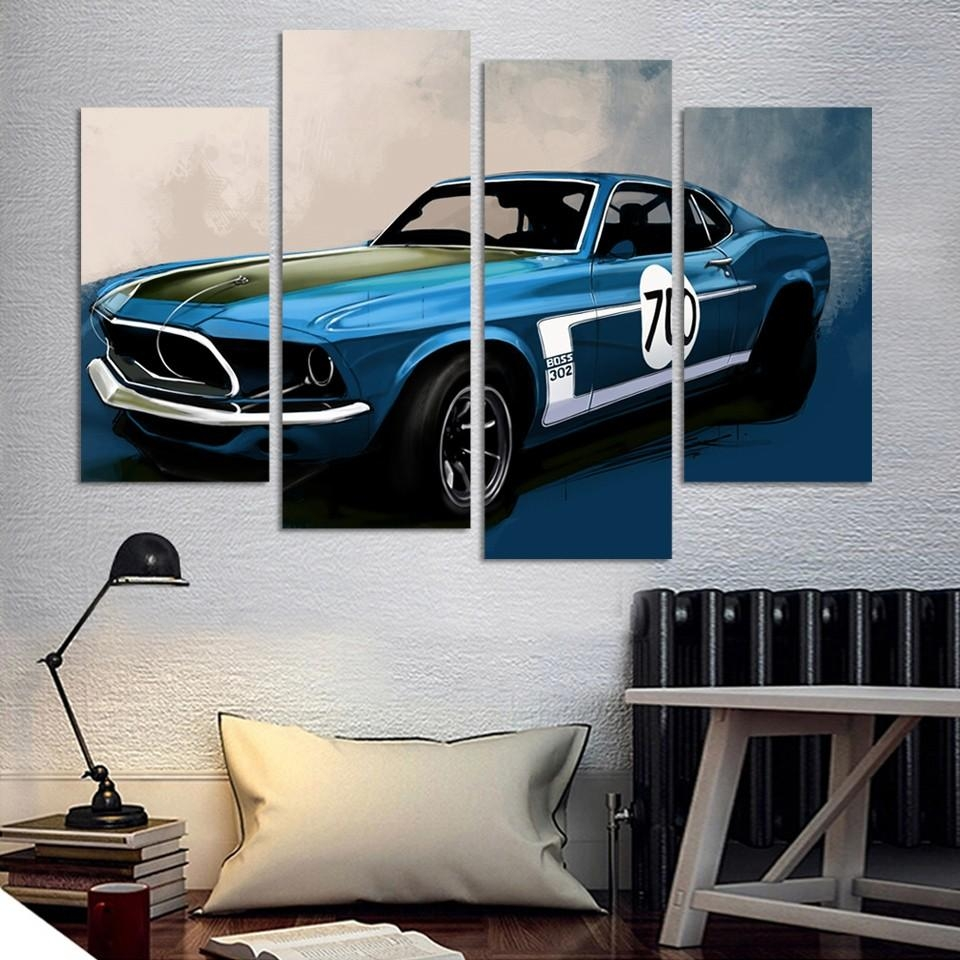 Online Get Cheap Car Wall Painting  Aliexpress   Alibaba Group Throughout Classic Car Wall Art (Image 11 of 20)